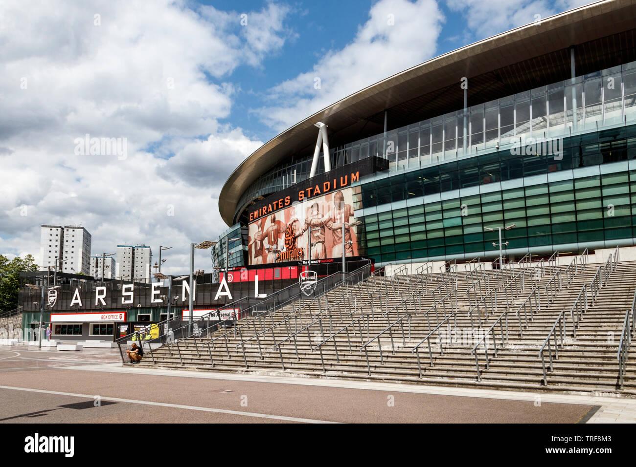 The Emirates Stadium, home to Arsenal Football Club, Islington, London, UK, 2019 Stock Photo