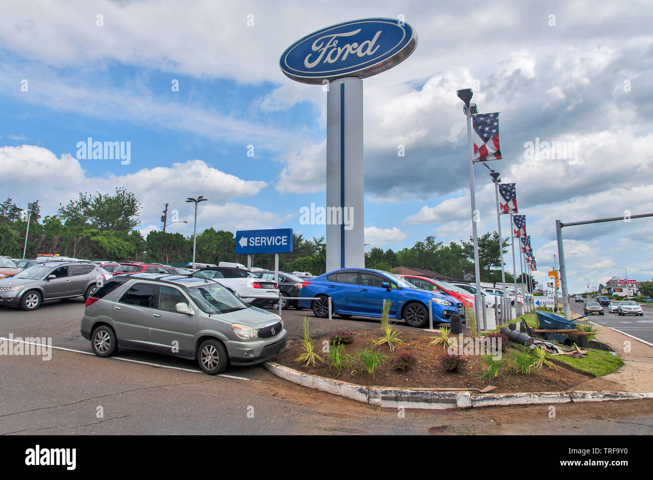 John Kennedy Ford >> John Kennedy Ford Of Feasterville Pa Usa Stock Photo