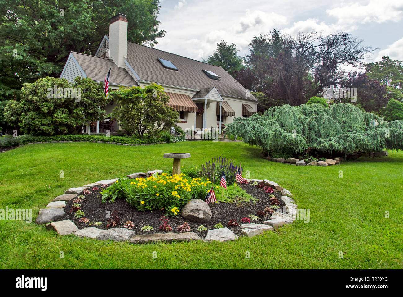 A House With Beautiful Front Yard Design Feasterville Pa Usa