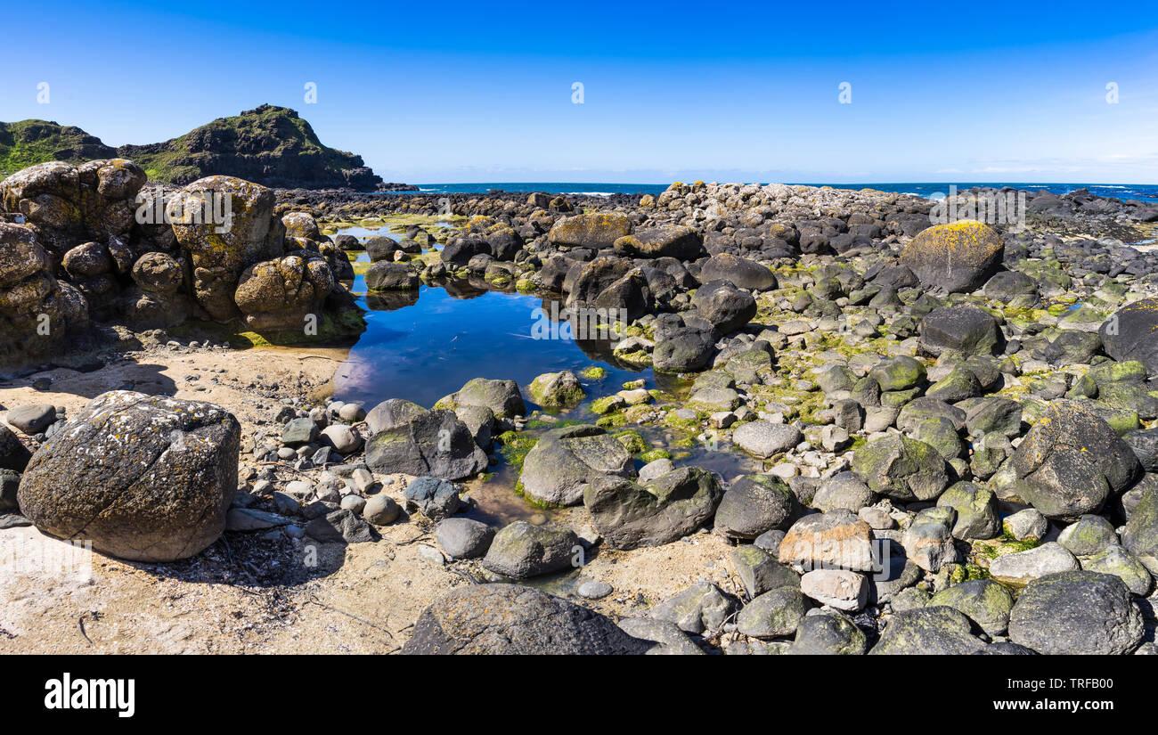 Typical coastal cliffs view, Ireland - Stock Image