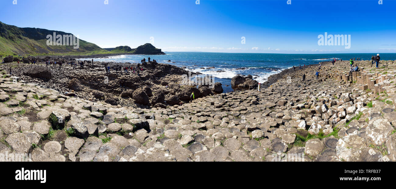 The natural landscape of Giant's Causeway in Northern Ireland Stock Photo