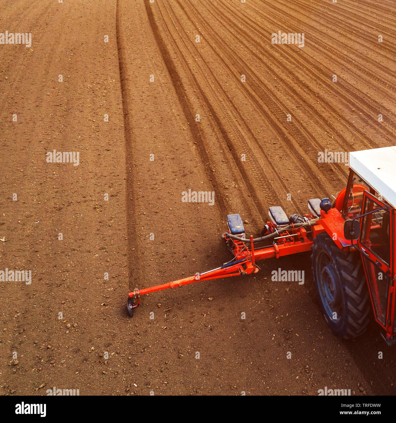 Seeding Tractor Stock Photos & Seeding Tractor Stock Images