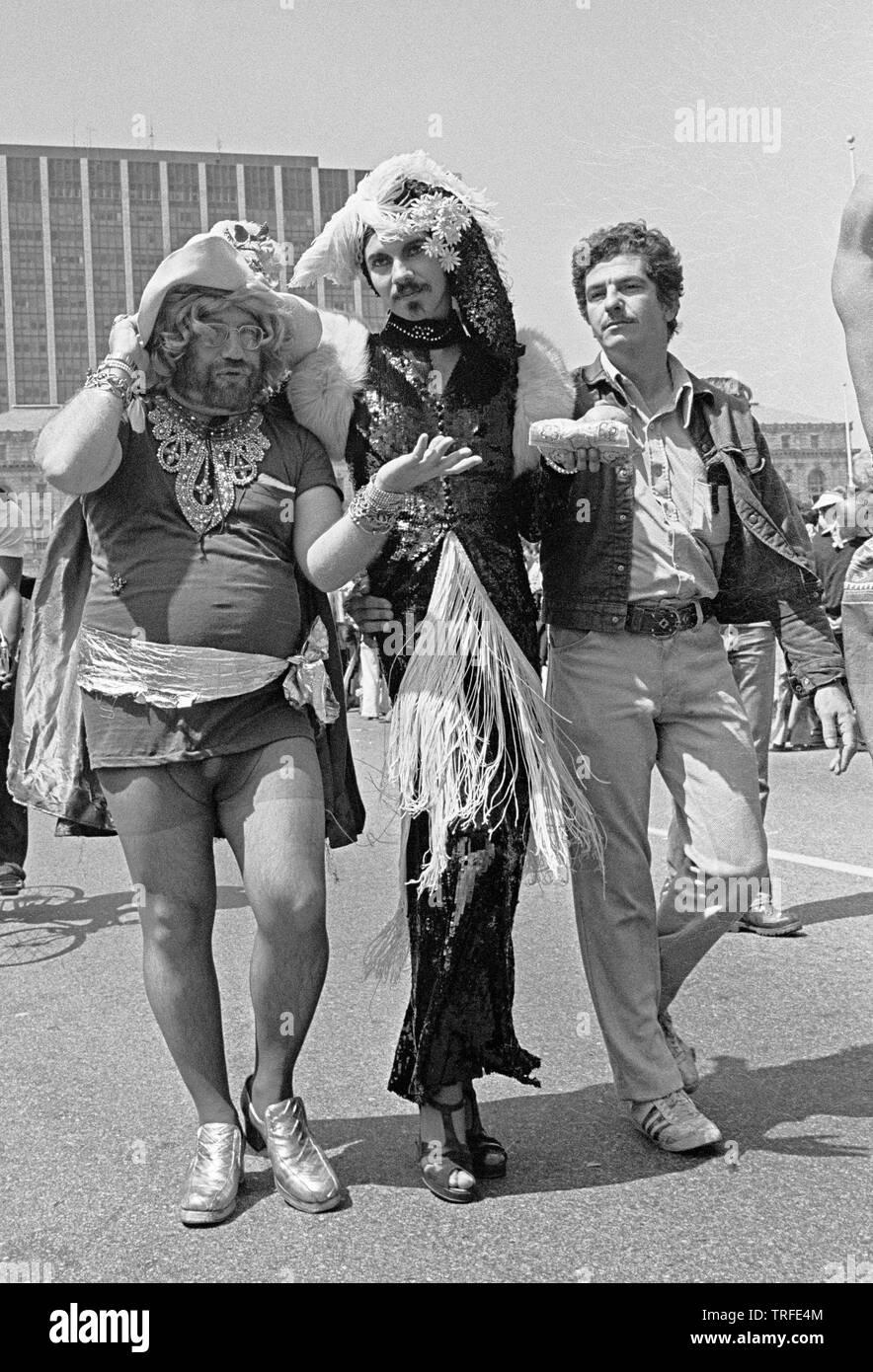 Gay Pride Parade in San Francisco, June 1977 - Stock Image
