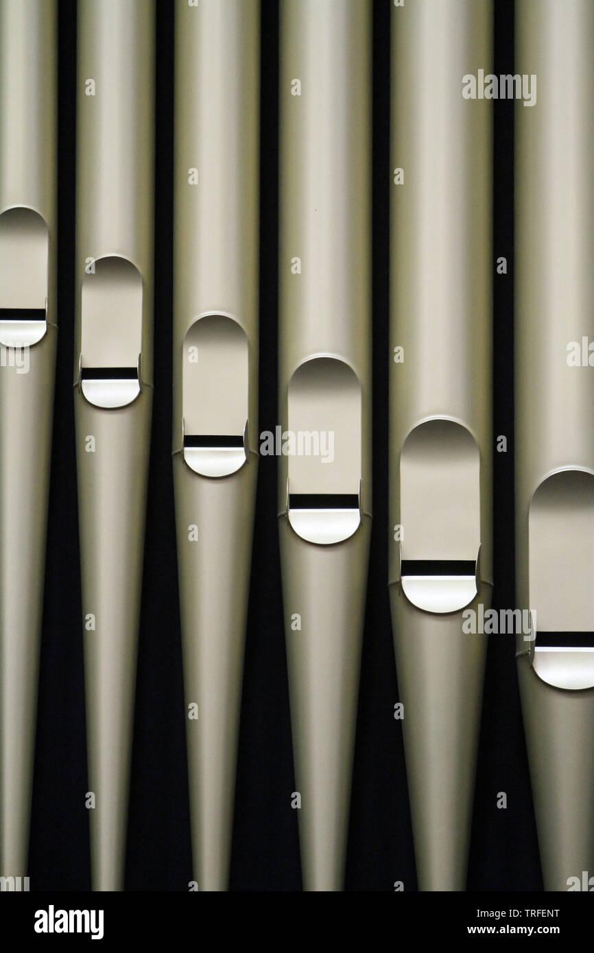 Organ. Saint Salvators Cathedral. Bruges. Belgique. - Stock Image