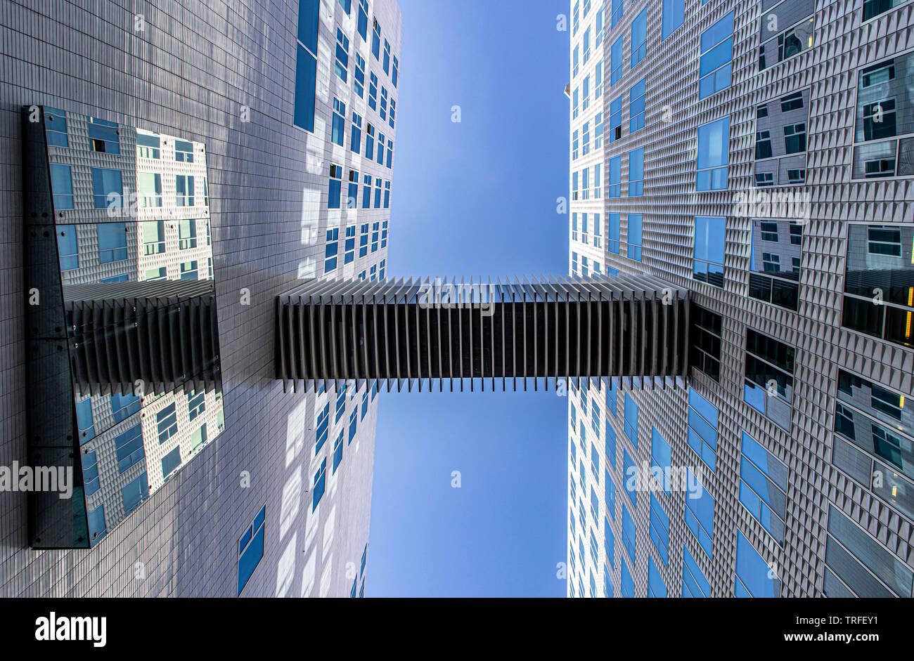 Amsterdam, Niederlande, Hauskomplex Idock Insel, ehemalig Westerdoksdijks, ein moderner Bereich von verschiedenen Büro, Wohn und Verwaltungs Gebäuden, - Stock Image