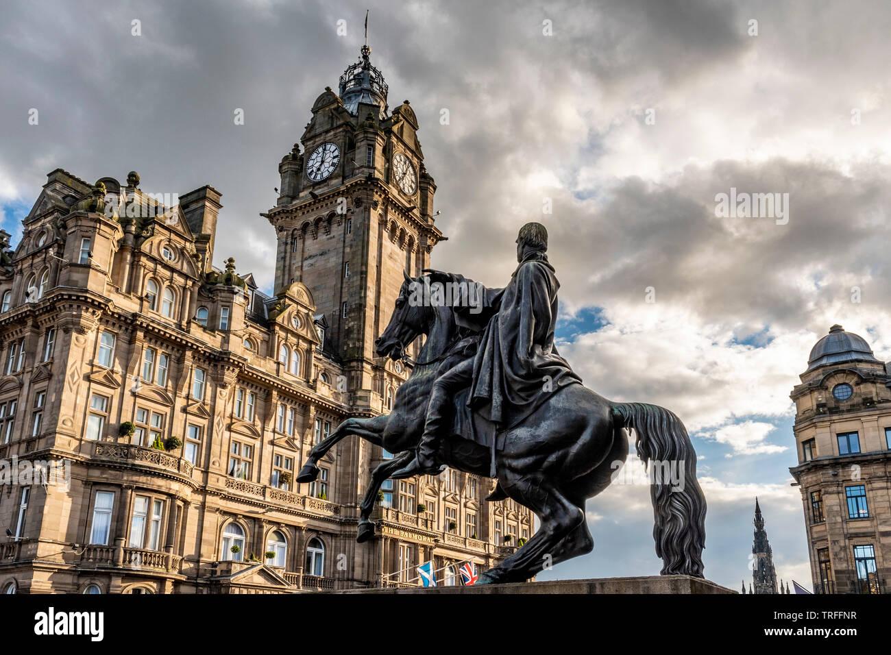 The Iron Duke, Waterloo Place, Edinburgh - Stock Image