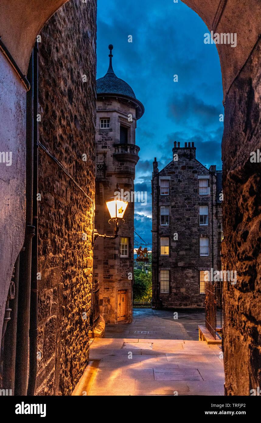 Lady Stair Close, Royal Mile, Edinburgh - Stock Image