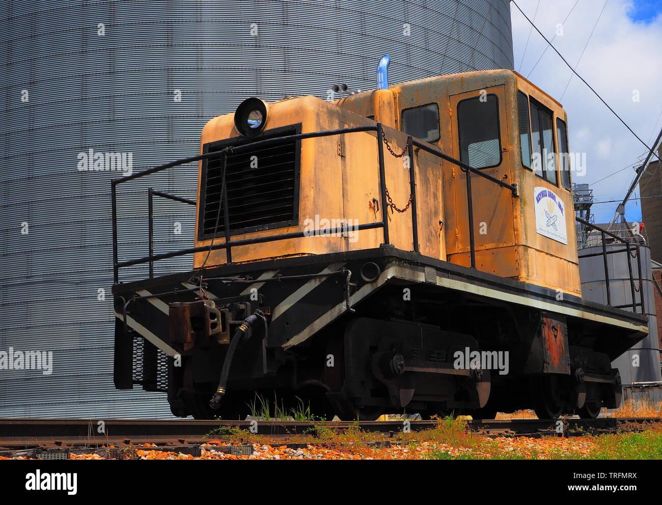 GE switcher locomotive B-B-100  GM-EMD EMD ( Electro-Motive Corporation ) rail road locomotive model 40 - Stock Image