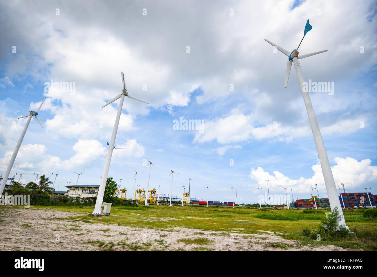 wind turbine landscape natural energy green Eco power