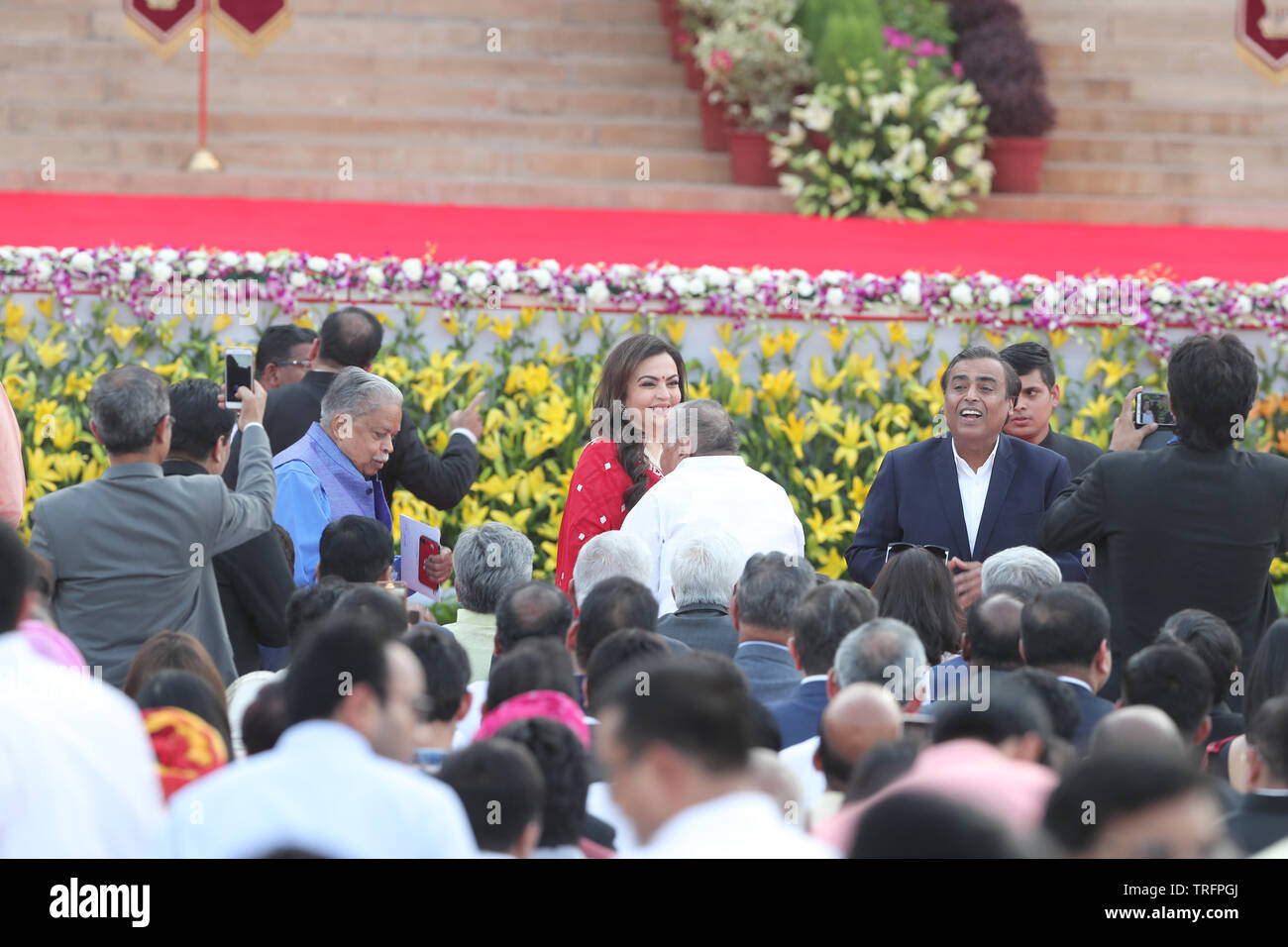 Delhi, India, 30th May 2019Rastrapathi Bhavan, India. Swearing in ceremony of Shri Narendra Modi on 30.05.2019. Among those in attendance for PM's swe - Stock Image