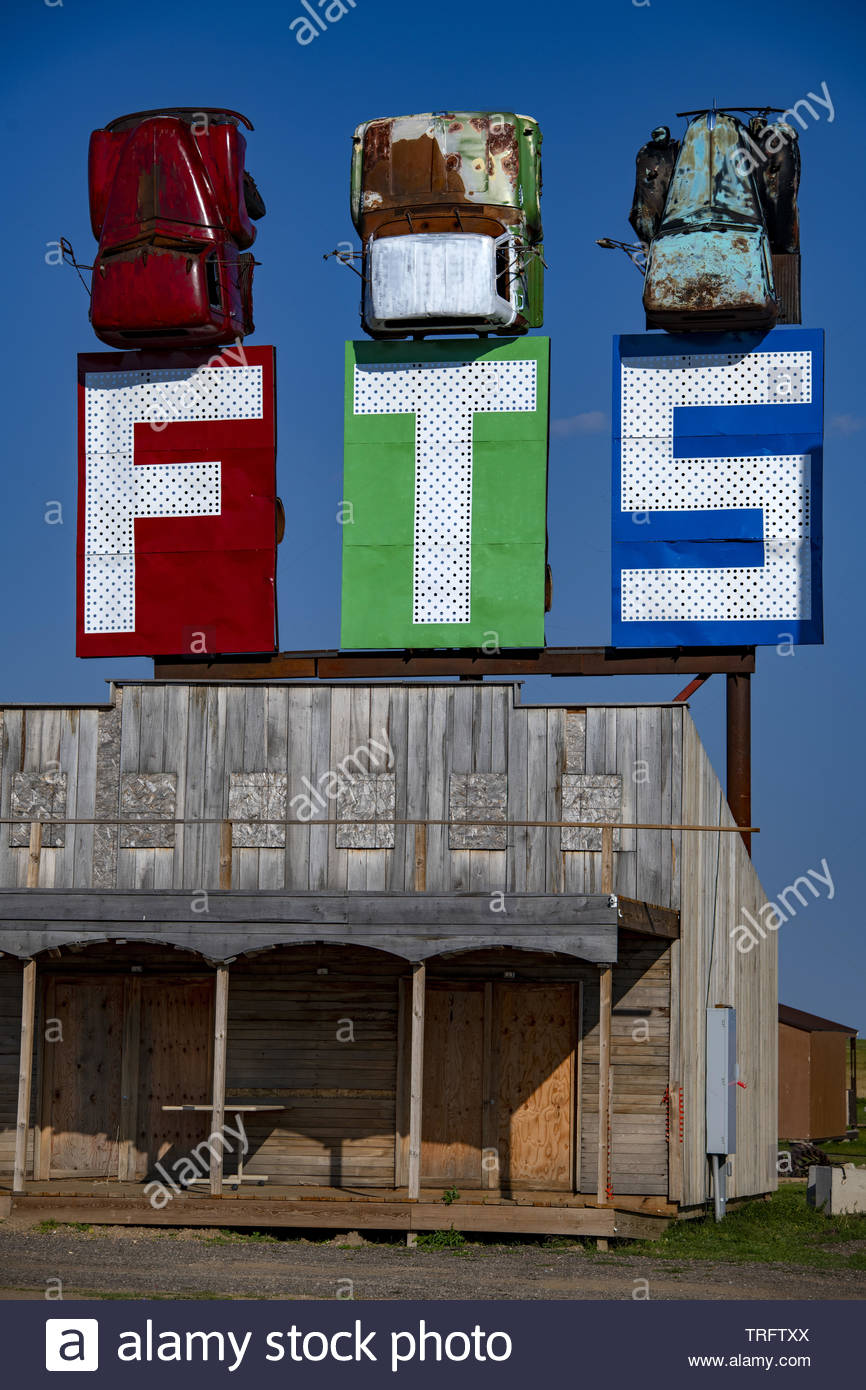 United States, South Dakota, Sturgis, the Full Throttle Saloon is the world largest biker's bar Stock Photo