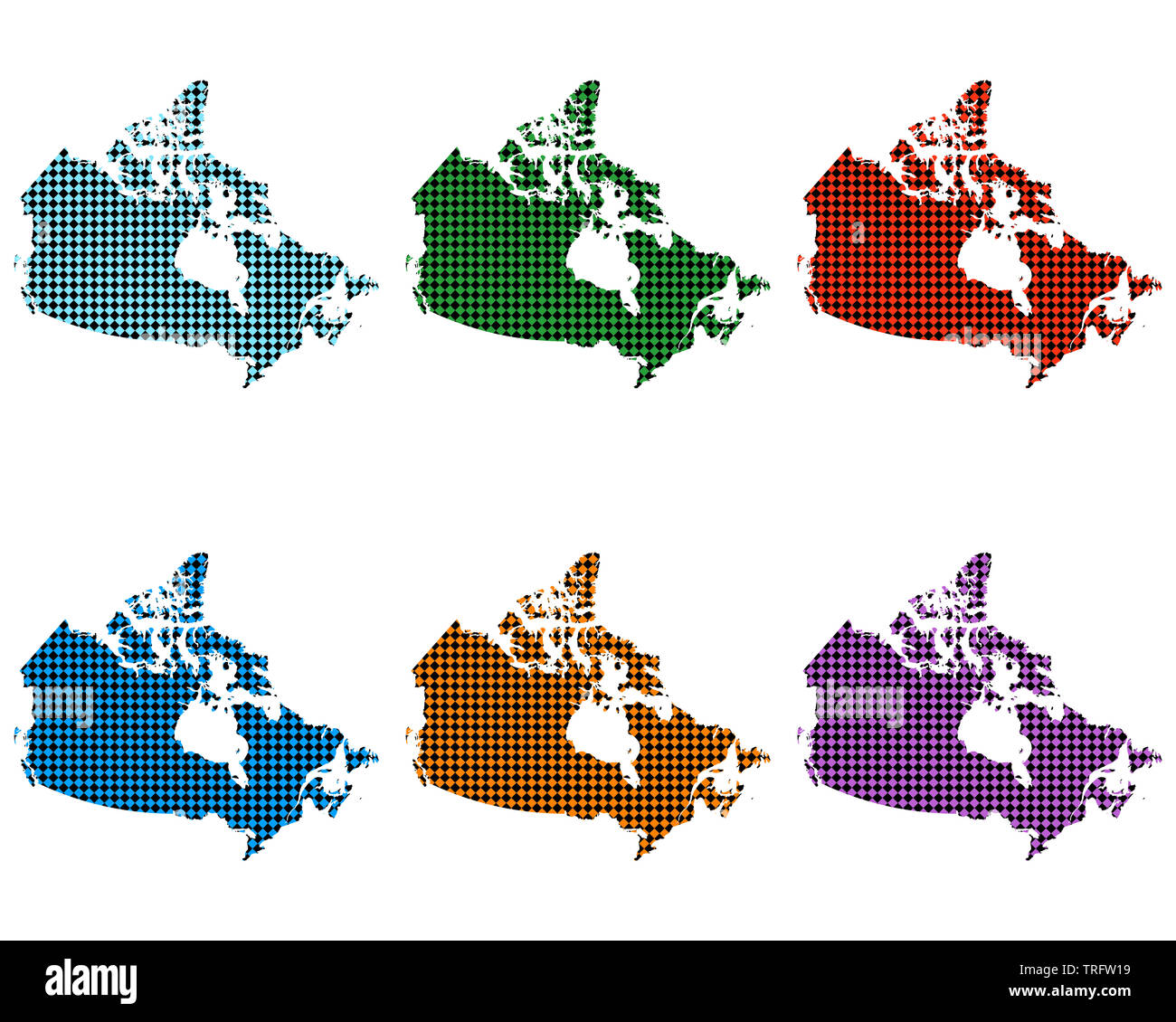 Small Canada Map Maps of Canada with small rhombs Stock Photo   Alamy