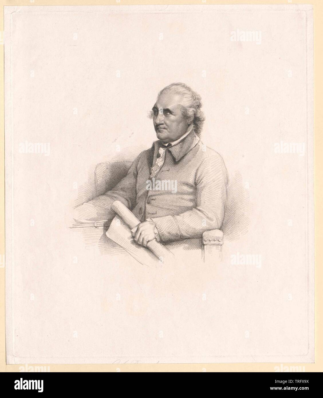 bar, Isaac, English topmost, member of parliament 1761-1790, Additional-Rights-Clearance-Info-Not-Available - Stock Image