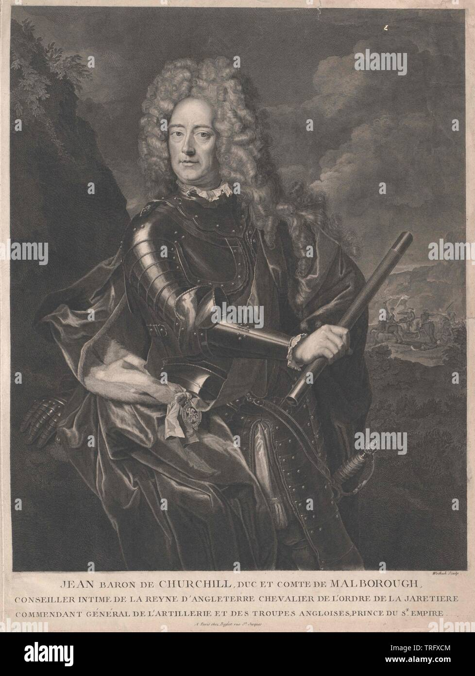 Marlborough, John Churchill 1st Duke of, Additional-Rights-Clearance-Info-Not-Available - Stock Image