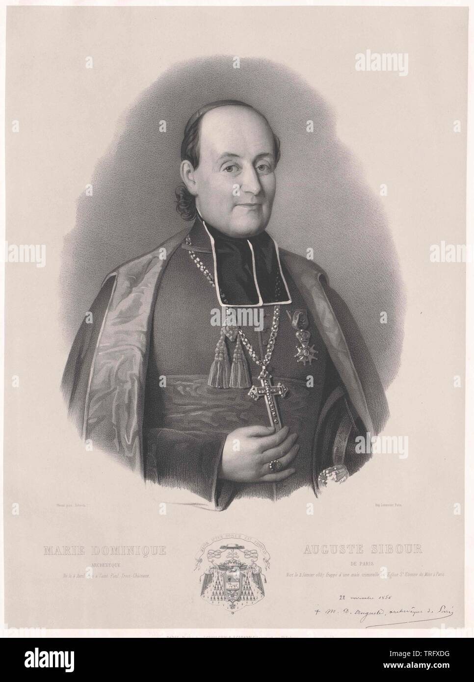 Sibour, Marie Dominique Auguste, archbishop of Paris, Additional-Rights-Clearance-Info-Not-Available - Stock Image