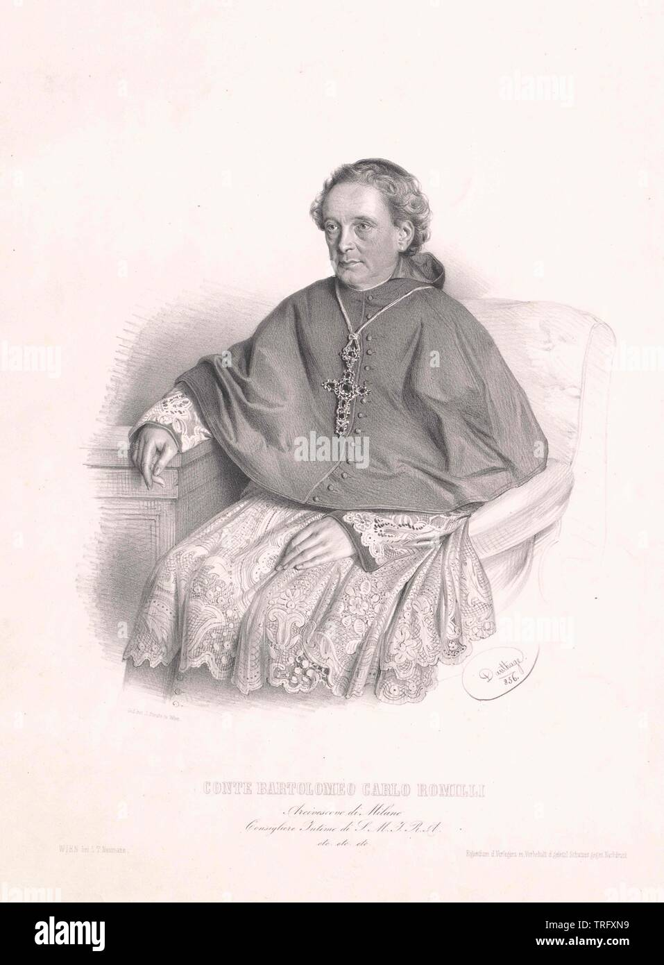Romilli, Bartolomeo Carlo Conte, archbishop of Milan, Additional-Rights-Clearance-Info-Not-Available - Stock Image