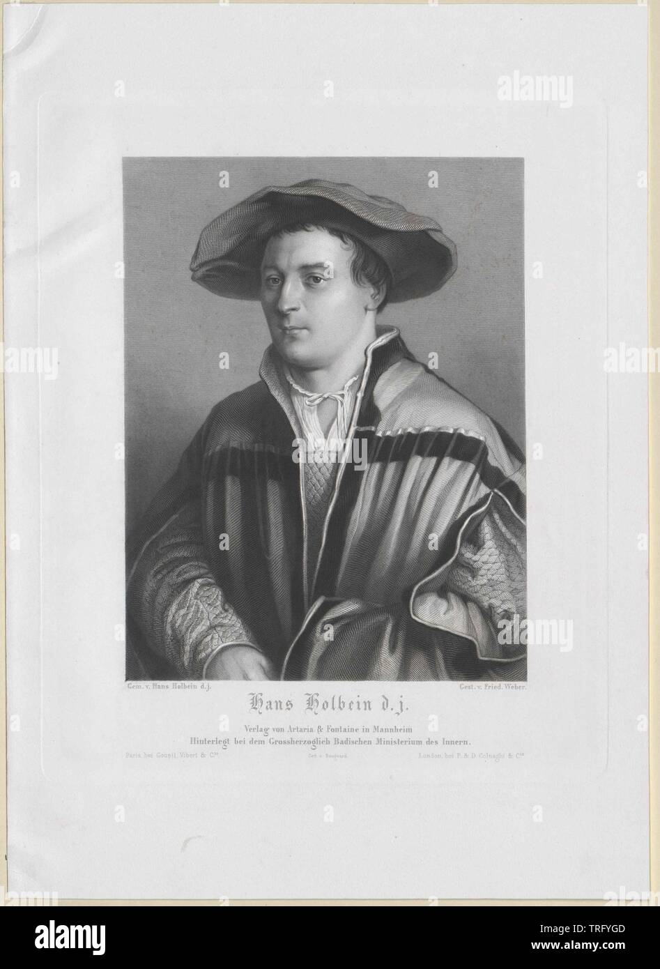 Holbein, Hans, Additional-Rights-Clearance-Info-Not-Available - Stock Image