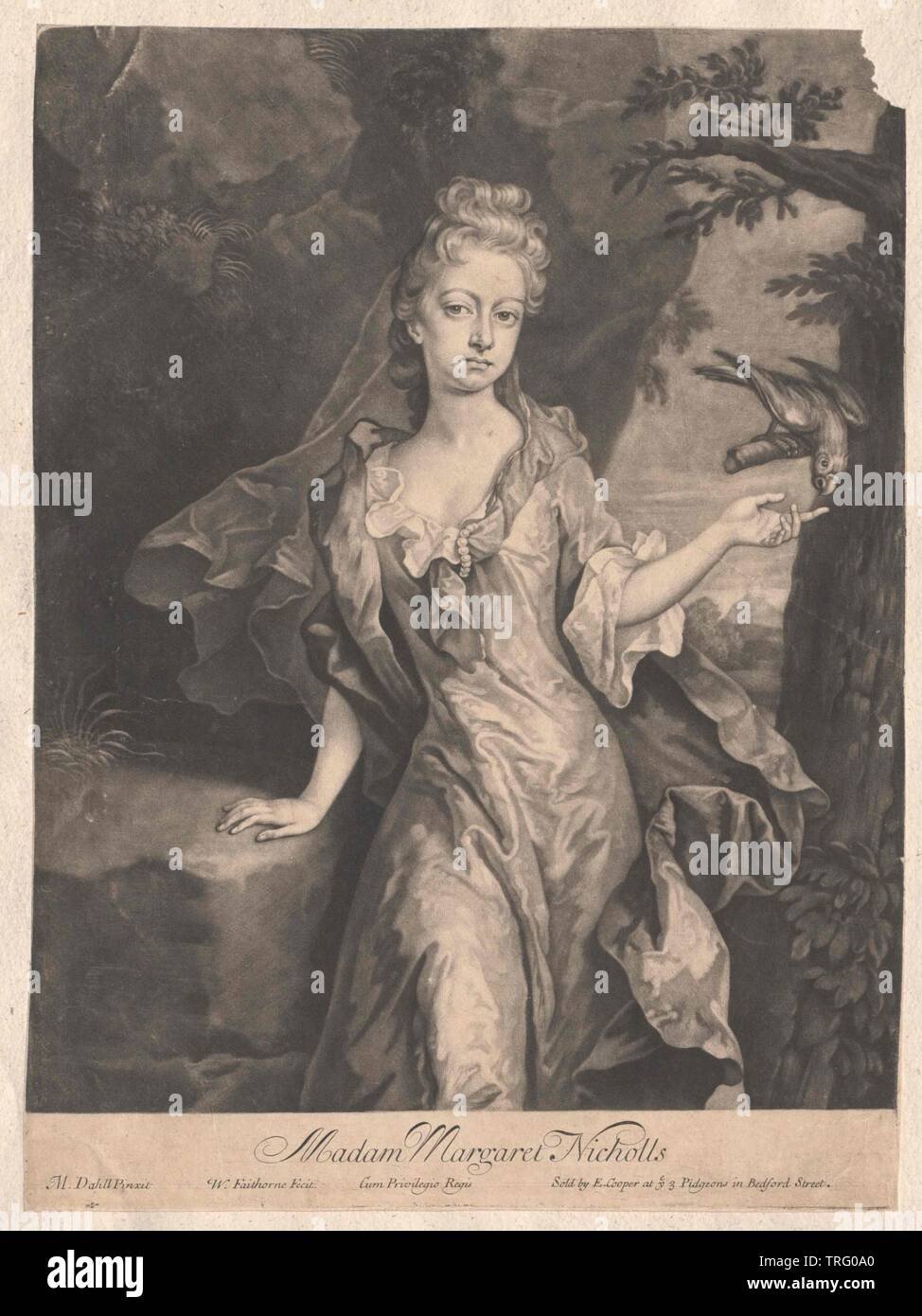 Nicholls, Margaret, lived circa 1710, Additional-Rights-Clearance-Info-Not-Available - Stock Image