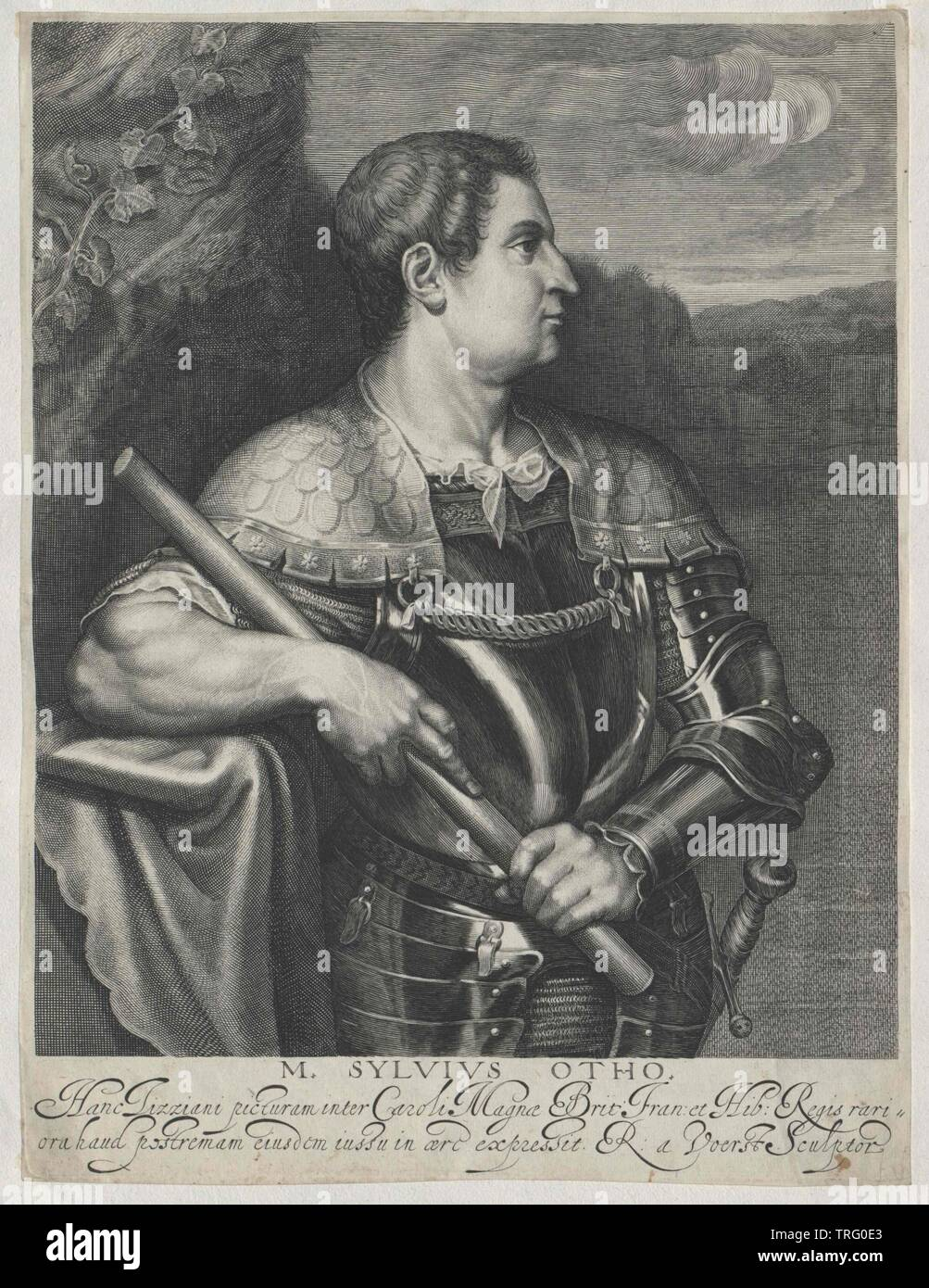 Otho, Roman emperor, Additional-Rights-Clearance-Info-Not-Available - Stock Image