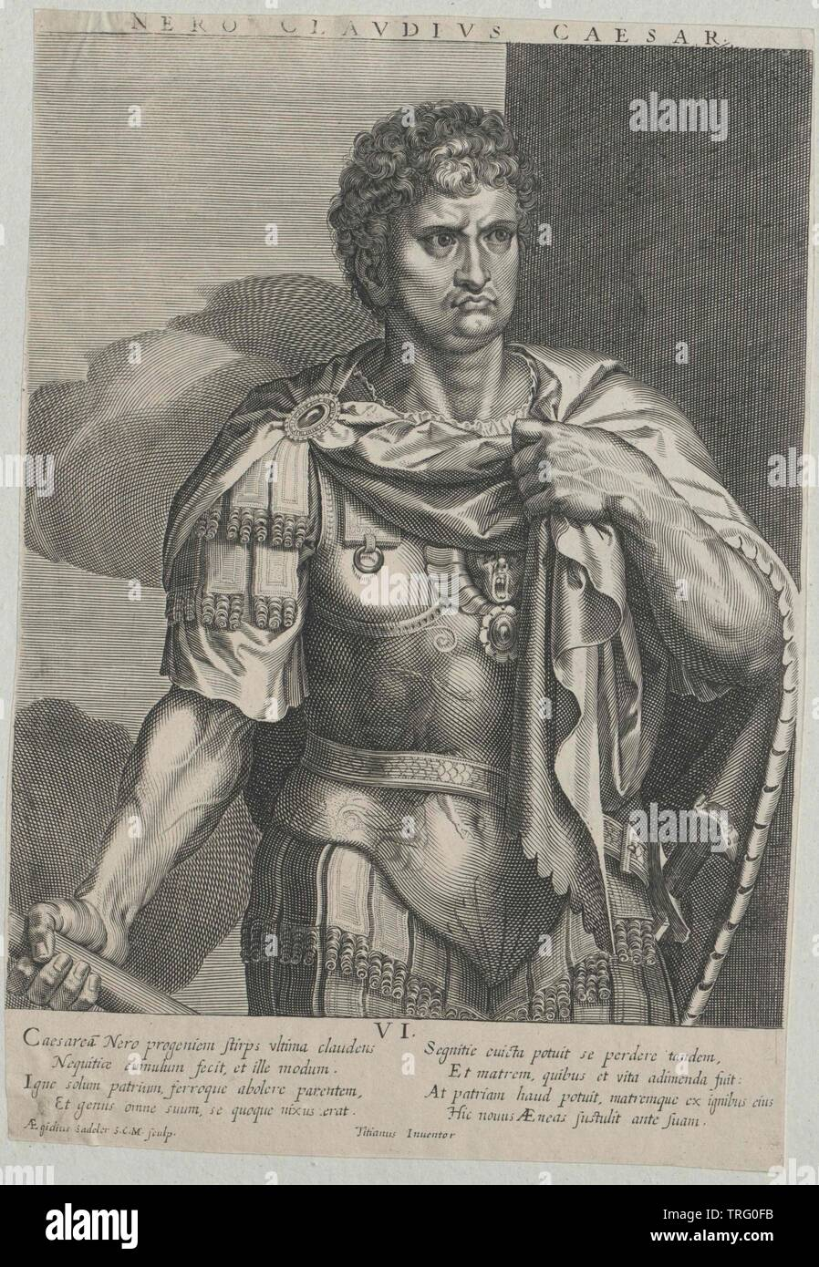 Nero, Roman emperor, Additional-Rights-Clearance-Info-Not-Available - Stock Image