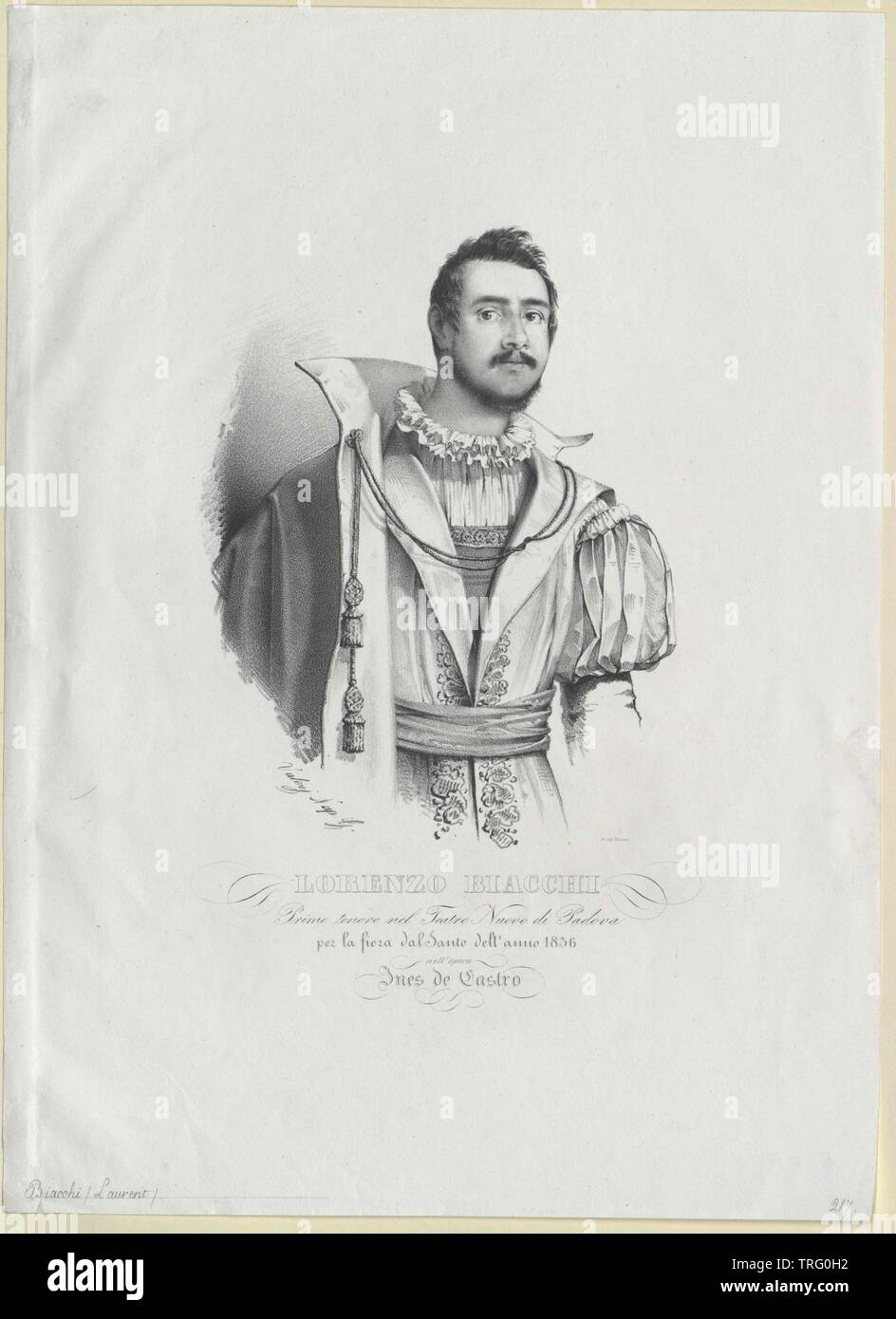 Biacchi, Lorenzo, lived circa 1836, Additional-Rights-Clearance-Info-Not-Available - Stock Image