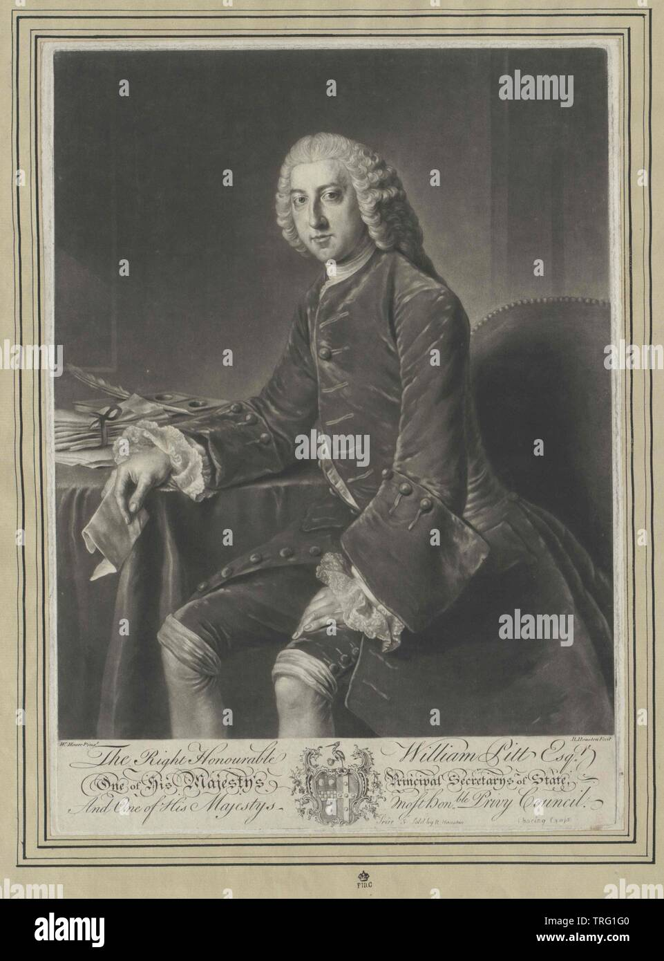 Pitt, William earl of Chatham, Additional-Rights-Clearance-Info-Not-Available - Stock Image