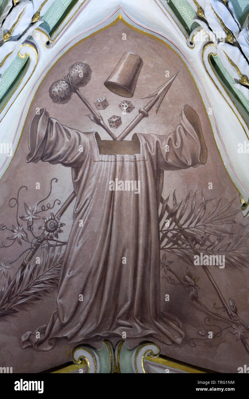 Klosterneuburg abbey. The Denial of Saint Peter. Vienne. Autriche. - Stock Image