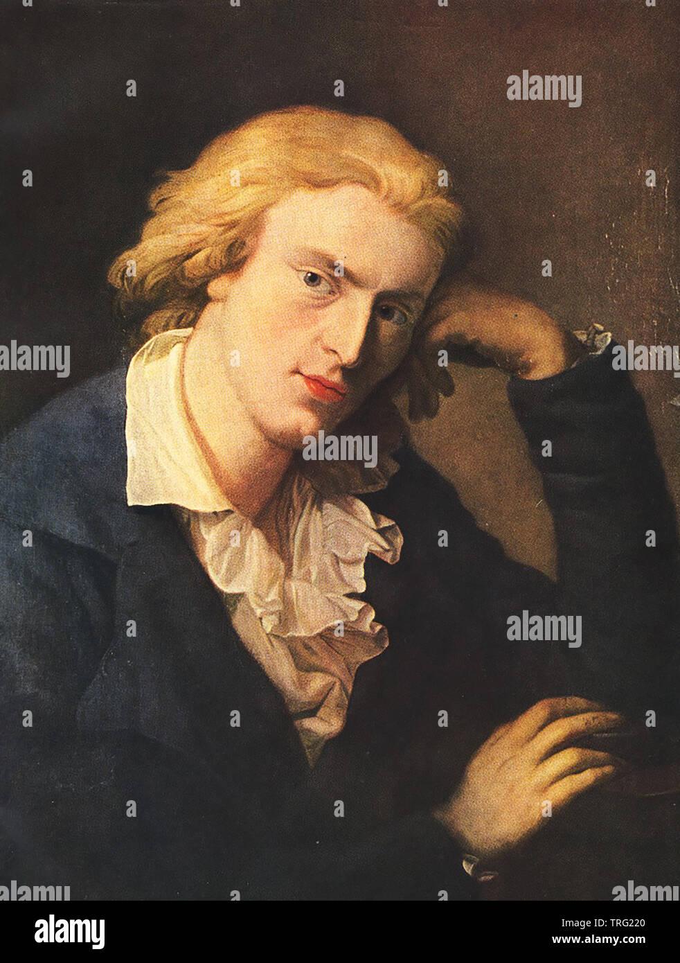 FRIEDRICH SCHILLER (1759-1805) German poet and philosopher - Stock Image