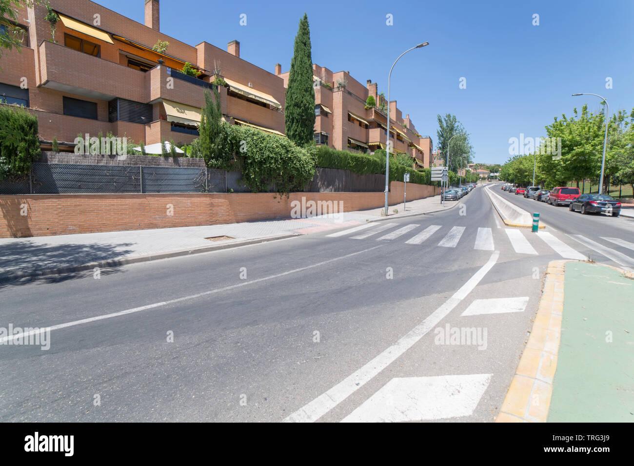 Cordoba, Spain - May 30th, 2019: Norte Sierra district. Cordoba, Spain. Escultor Ramon Barba street - Stock Image