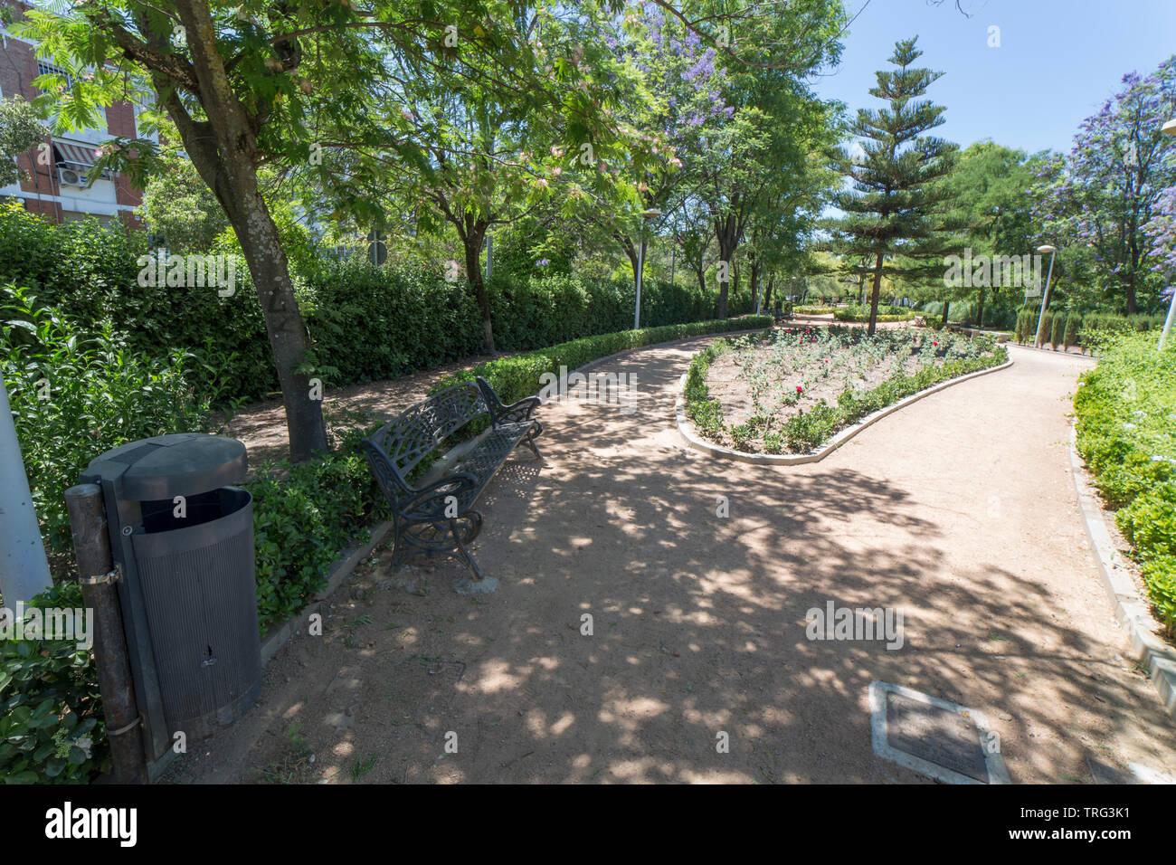 Cordoba, Spain - May 30th, 2019: Norte Sierra district. Cordoba, Spain. San Rafael gardens - Stock Image
