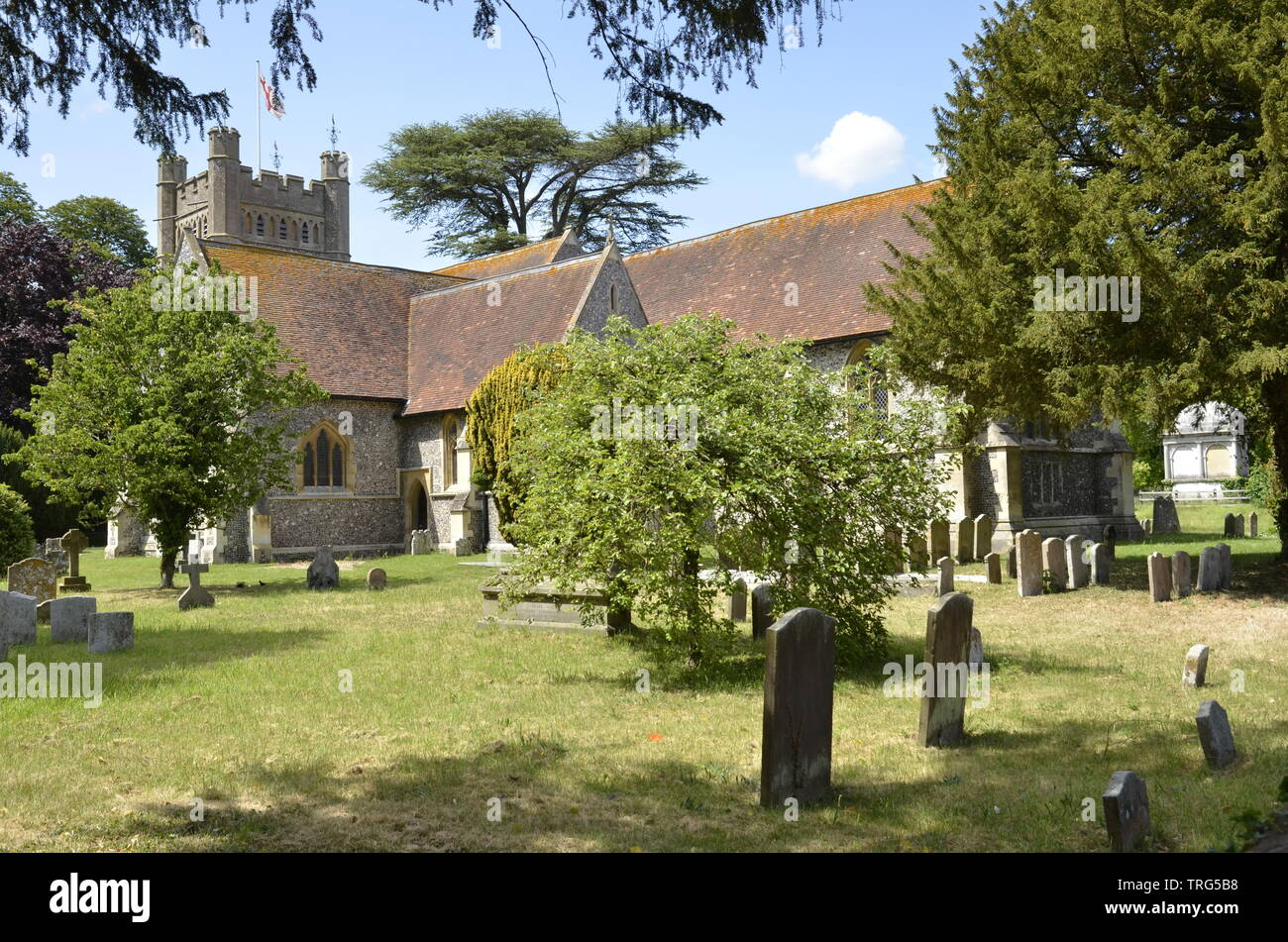 The church of St. Mary the Virgin in the Buckinghamshire village of Hambleden - Stock Image
