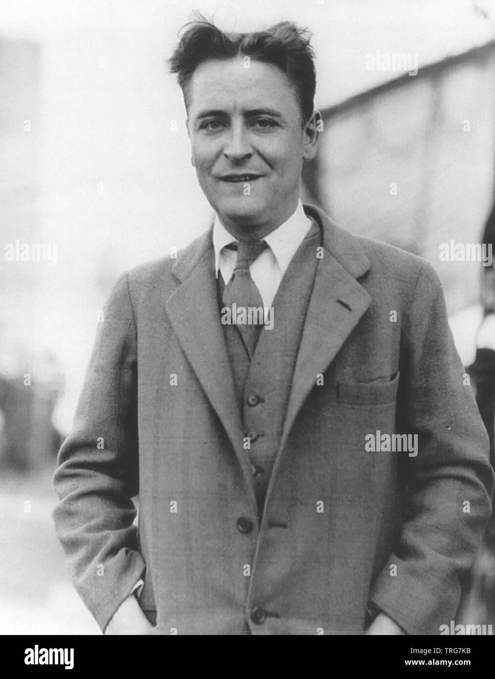 F Scott Fitzgerald 1896 1940 American Novelist Stock