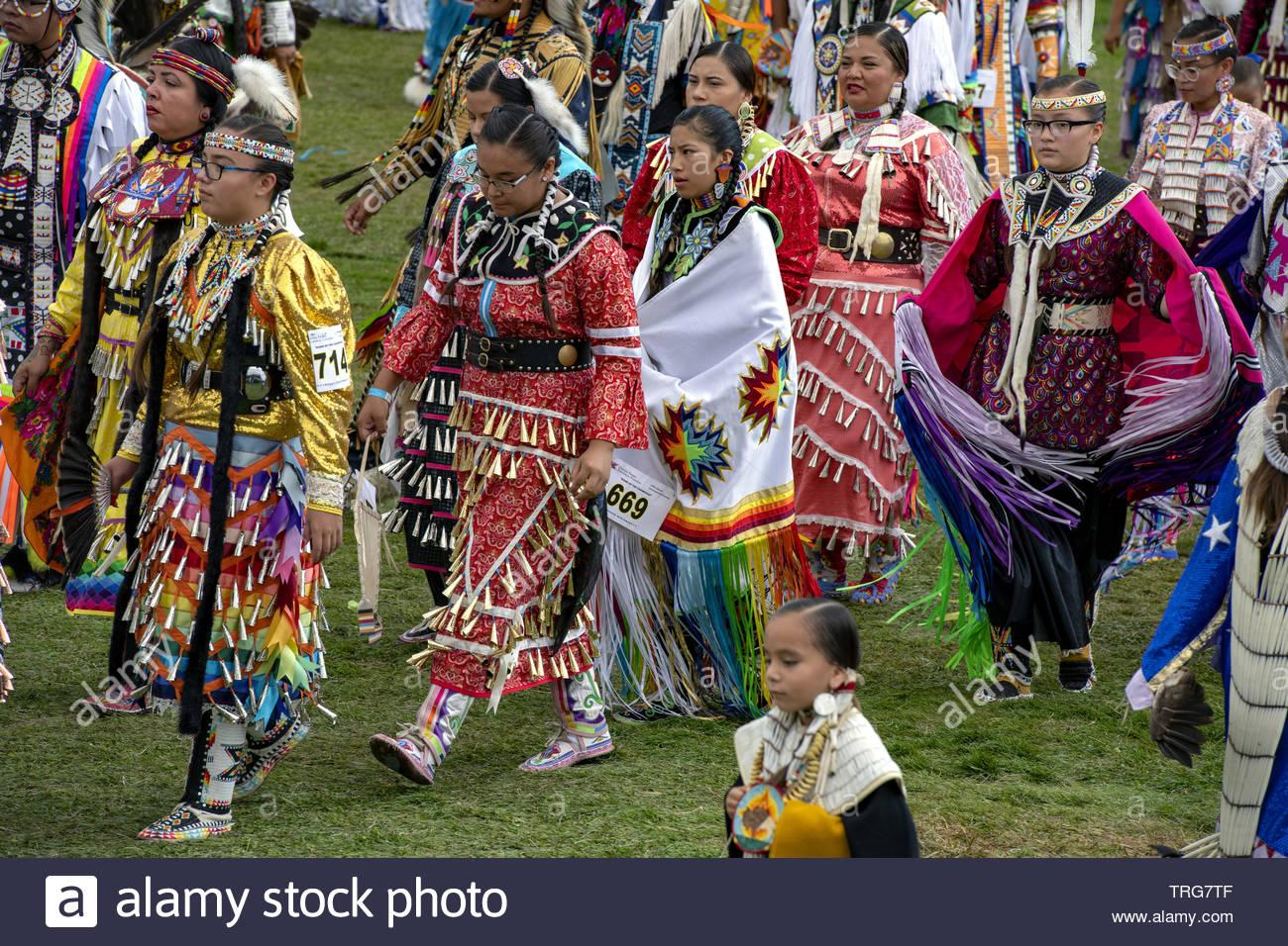 sioux, united tribes technical college international pow wow, bismarck, north dakota, usa - Stock Image