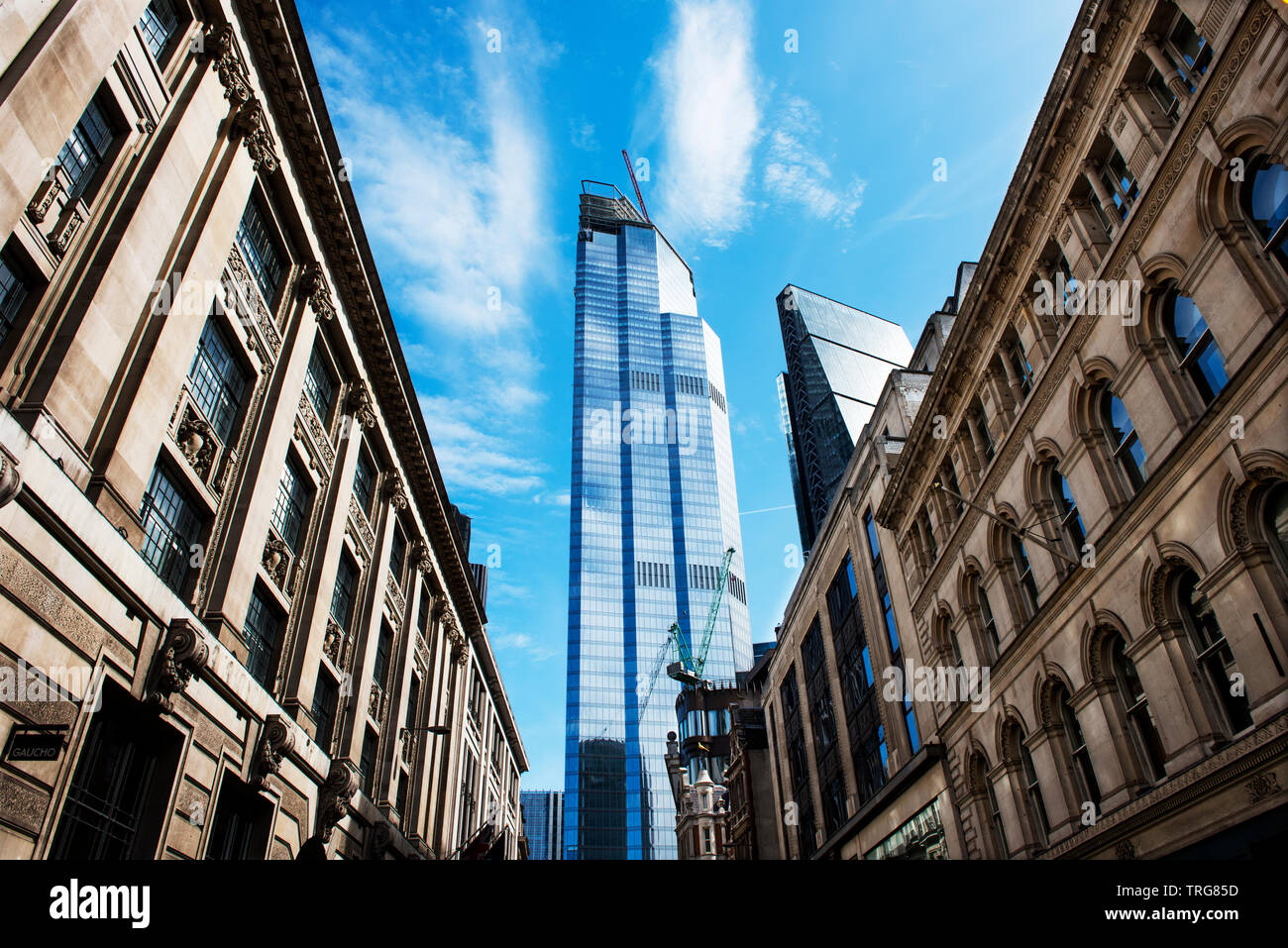 City of London, England UK May 2019. 22 Bishopsgate formerly known as The Pinnacle 22 Bishopsgate is a commercial skyscraper under construction in Lon Stock Photo