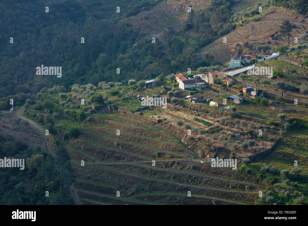 São Cristovão do Douro in the Douro Valley wine region, Vila Real, Portugal - Stock Image