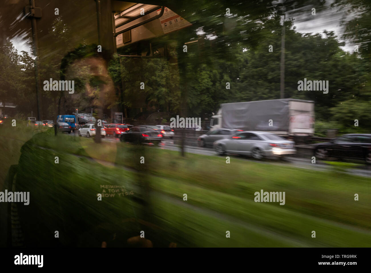 Prospects from the subway for flowing traffic on the Bundesstrasse 1 in Dortmund - Stock Image