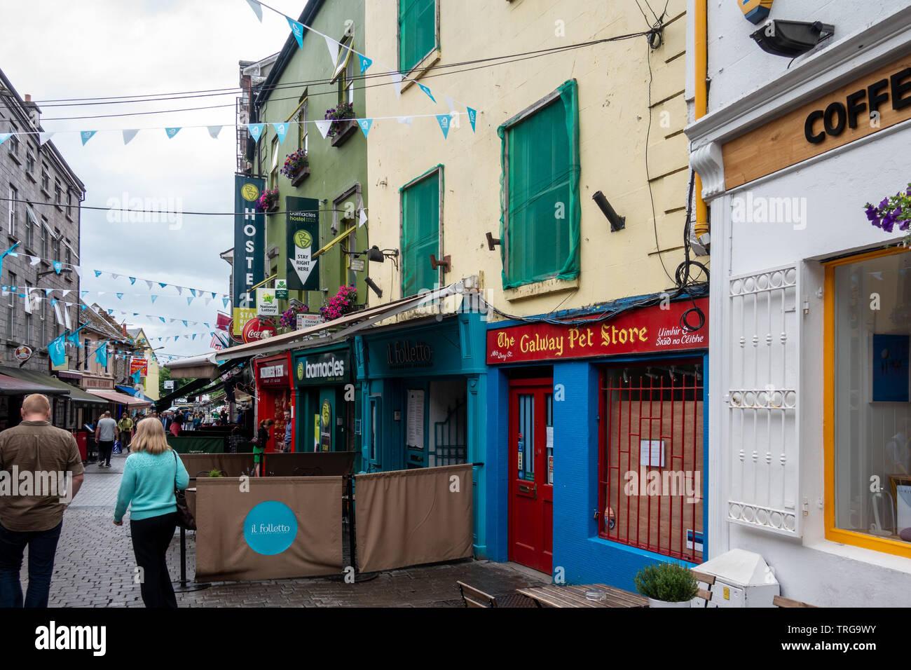 Street Scenes of Galway, Ireland - Stock Image