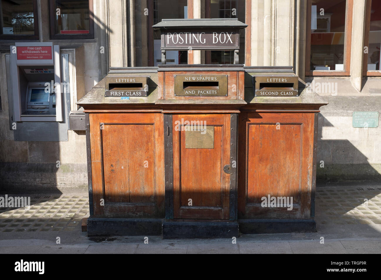 Old Post Boxes St Aldates Oxford England - Stock Image
