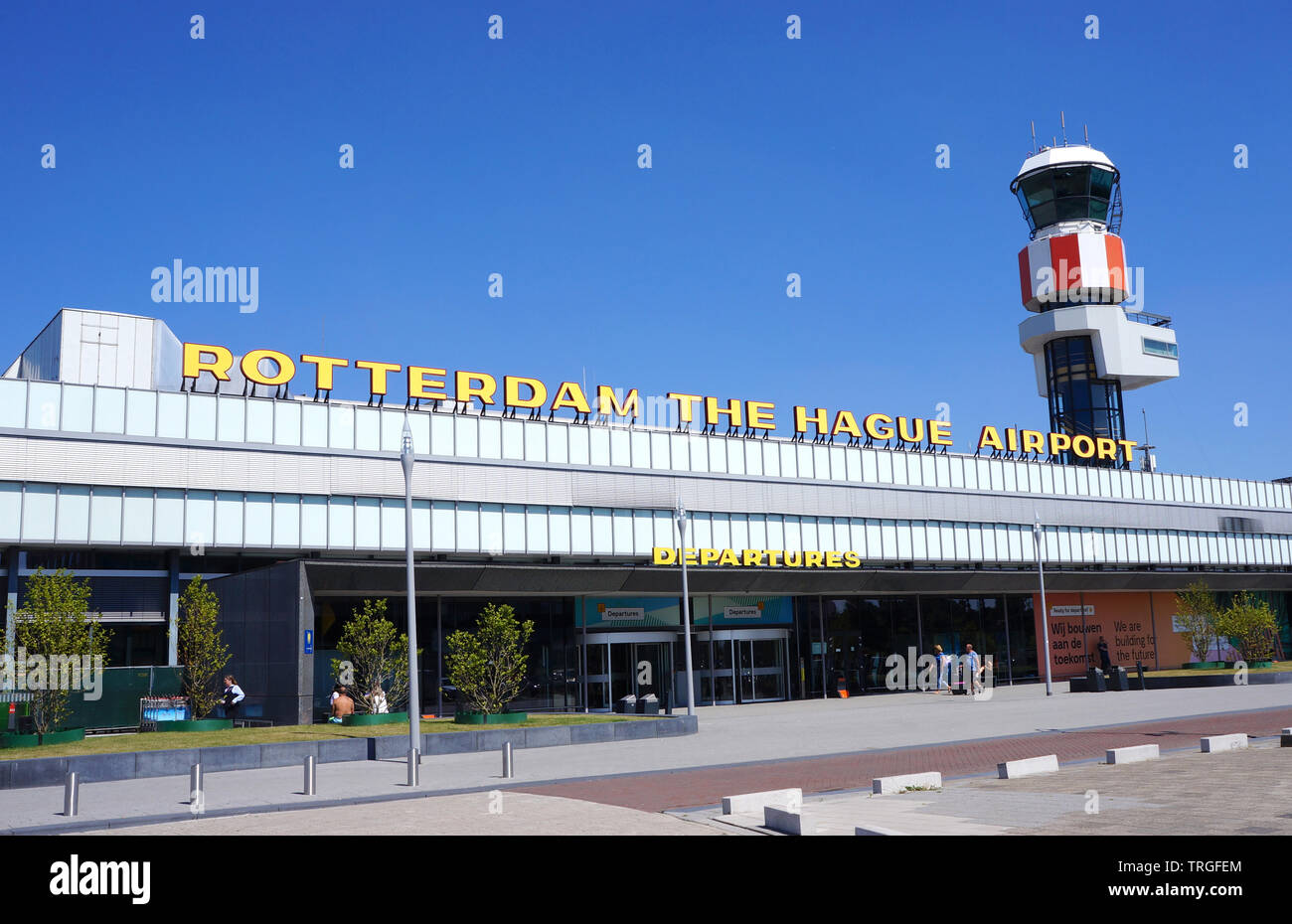 Rotterdam The Hague airport in the Netherlands, formerly known as  Zestienhoven Stock Photo - Alamy