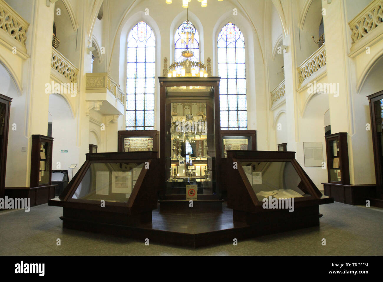 Exposure. Maisel Synagogue. Prague. Czech Republic. - Stock Image