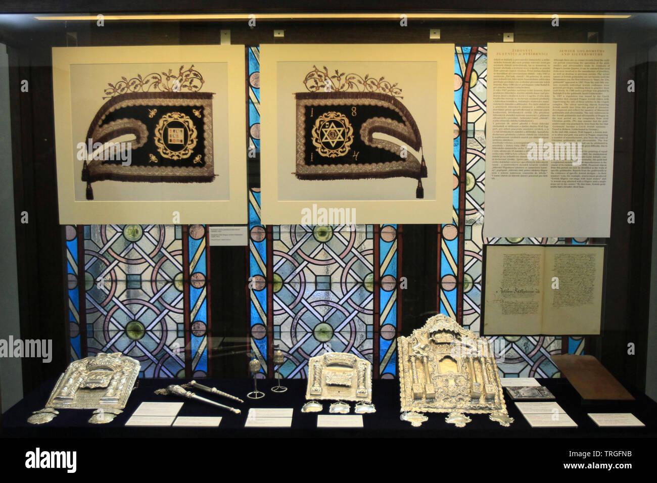 Exposition. Synagogue Maisel. Prague. Czech Republic. - Stock Image