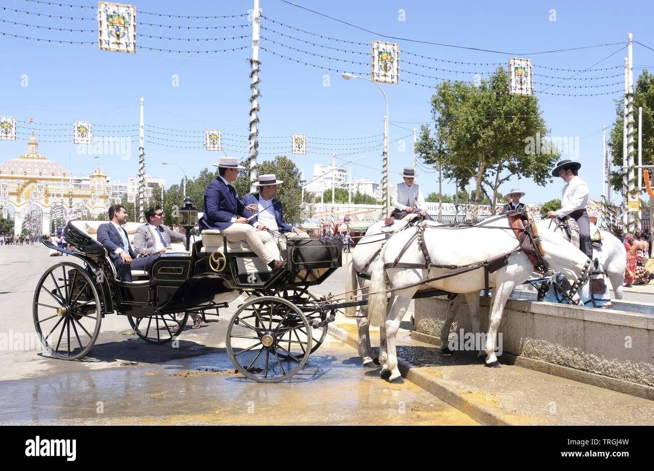 Seville Feria de Abril - Stock Image