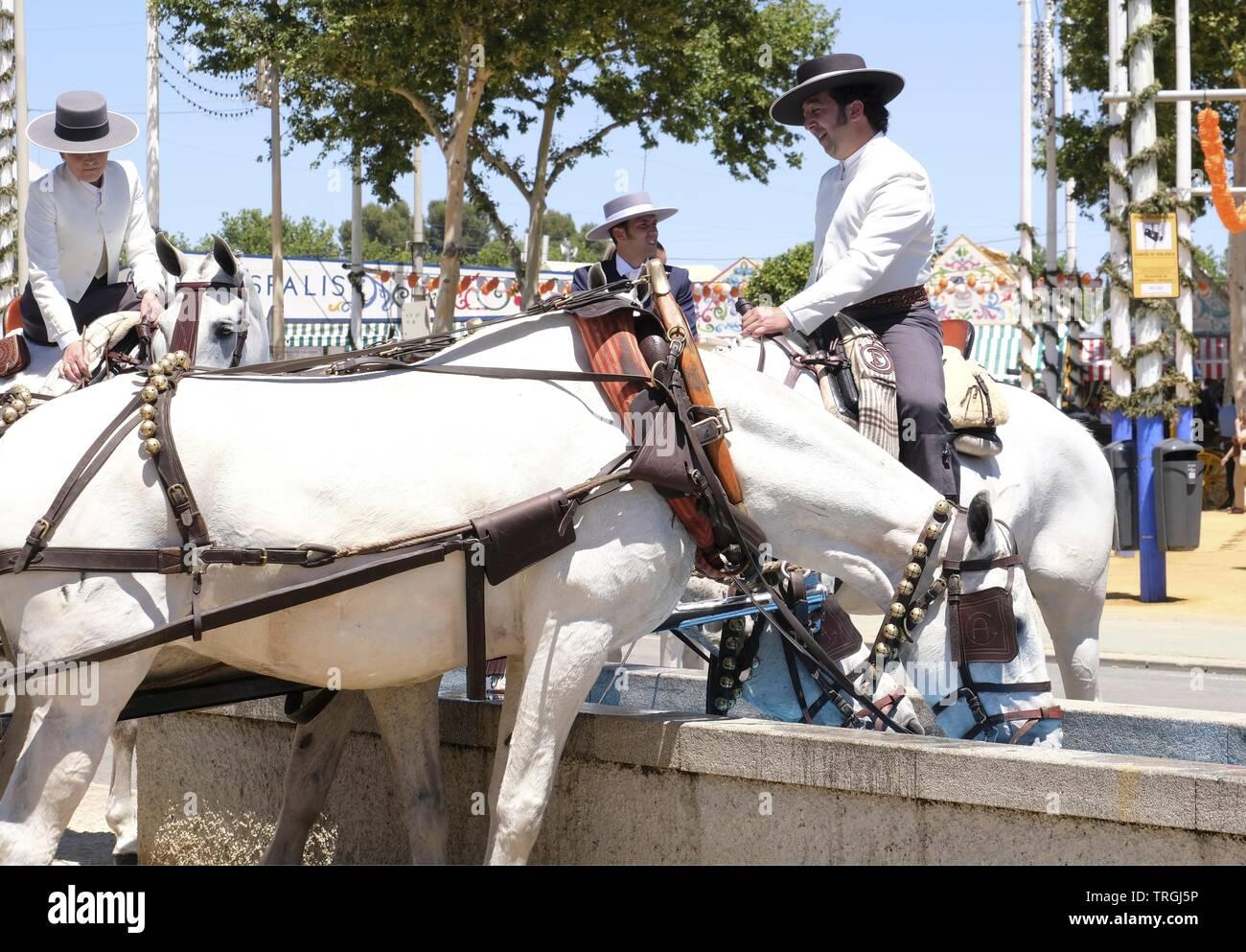 Seville Fair Stock Photo