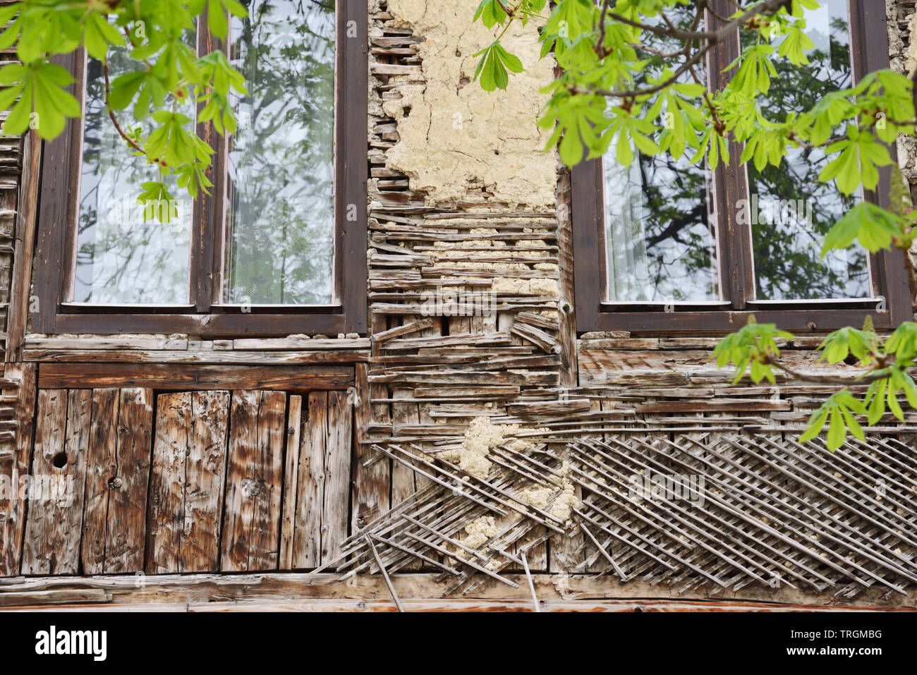 Visit of Sarajavo, destructed - Stock Image