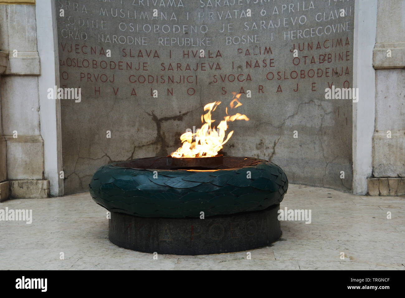 Visit of Sarajavo, memory of war - Stock Image
