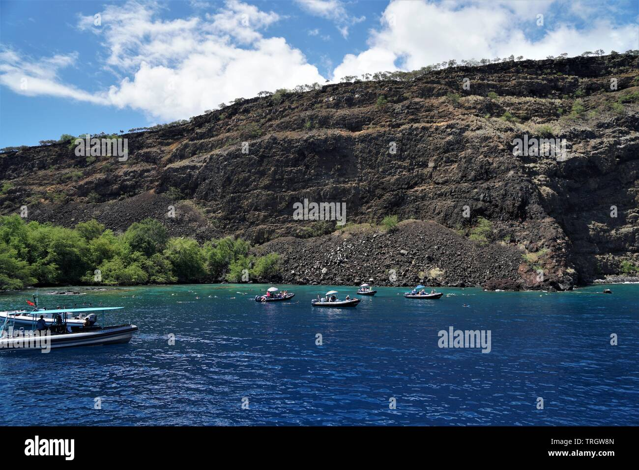 Sport diving and sport fishing are staples of Hawaiian culture and favorites among tourists - Stock Image