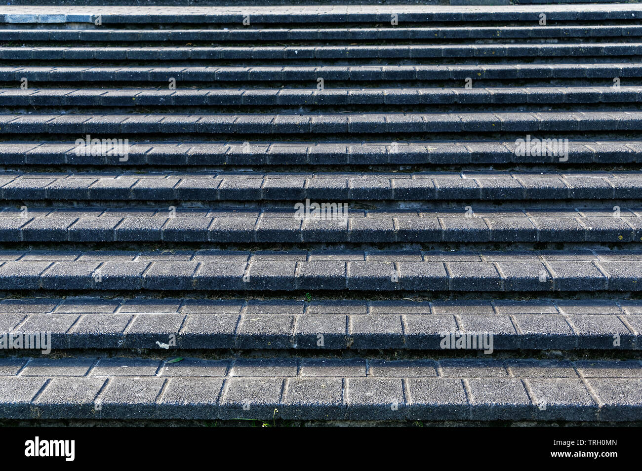Concrete paved steps, urban development Stock Photo