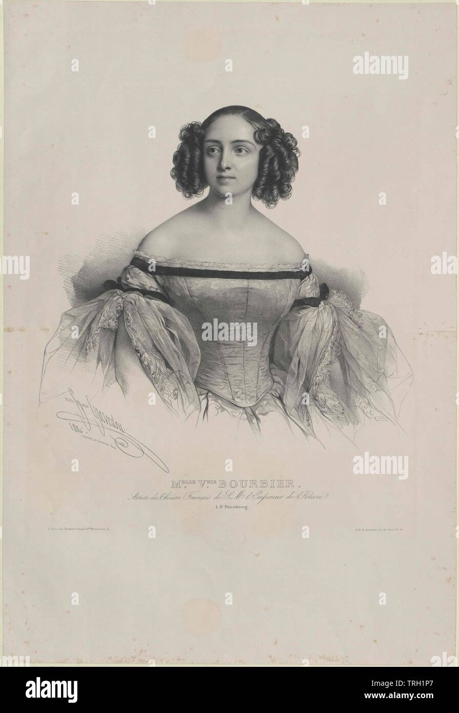 Bourbier, Virginie, lived circa 1836, Additional-Rights-Clearance-Info-Not-Available - Stock Image