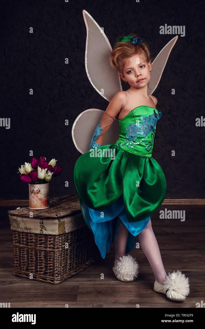 MTO Girl/'s Dress Peter Pan and Tinkerbell dress