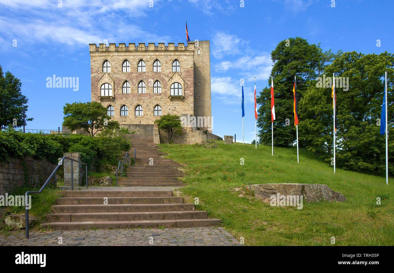 Hambach Castle (German: Hambacher Schloss), symbol of the German democracy movement, Neustadt an der Weinstraße, Rhineland-Palatinate, Germany - Stock Image